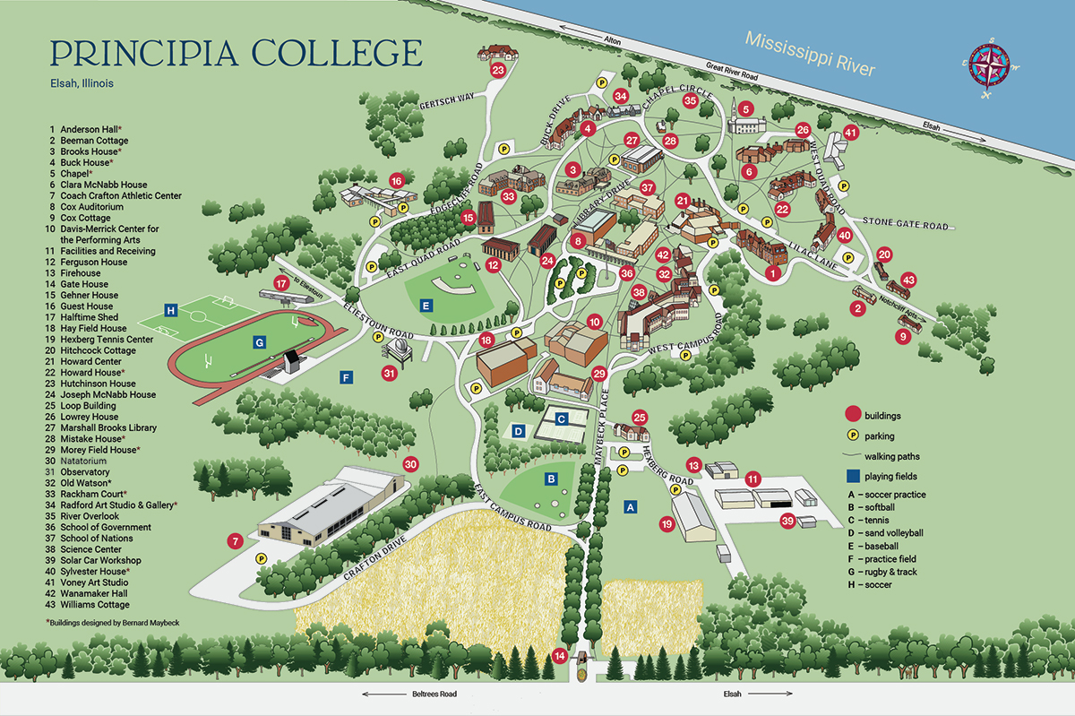large campus map image